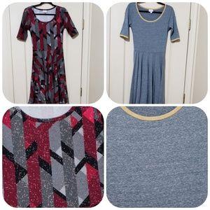 2 x dress nicole S lularoe